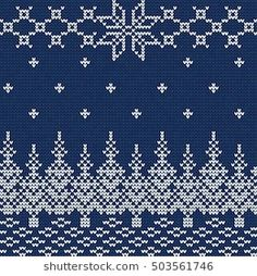 Vector Illustration of Ugly sweater seamless Pattern for Design, Website, Background, Banner. Merry christmas Knitted Retro cloth with Snowflake Element Template Fair Isle Knitting Patterns, Knitting Charts, Knitting Stitches, Knitting Designs, Cross Stitch Christmas Stockings, Scandinavian Pattern, Yarn Painting, Crochet Chart, Christmas Knitting