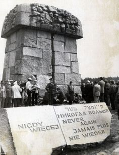 Treblinka death camp  Never again: The camp was destroyed by the Nazis in 1943 and the stone memorial is the only evidence of where it once stood