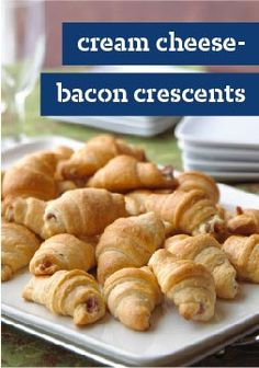 Cream Cheese-Bacon Crescents — Cream cheese, bacon and crescent rolls are all you need for this appetizer recipe. Be sure to grab one right out of the oven—they disappear fast at a party.