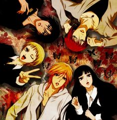 The wallflower-Manga, it's about a girl (Sunako) and 4 guys who promised her aunt that they would help her become a lady, only thing is she loves dark and horror stuff. It's such a cute love story!! But it's such a long series!!
