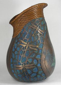 Judy Richie, Gourd Sculpture.