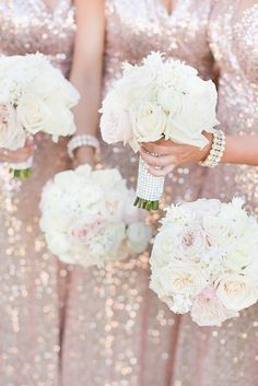 30 Incredible Bridesmaid Wedding Bouquets ♥ Check out our list of the most beautiful bridesmaid wedding bouquets for your bridesmaids. Incredible flowers will complete your wedding appearance. #wedding #bride #weddingbouquets #bridesmaidweddingbouquets White Roses Wedding, Rose Wedding Bouquet, White Wedding Bouquets, Wedding Flowers, New Years Wedding, New Years Eve Weddings, Dream Wedding, Sparkly Bridesmaid Dress, Wedding Bridesmaids
