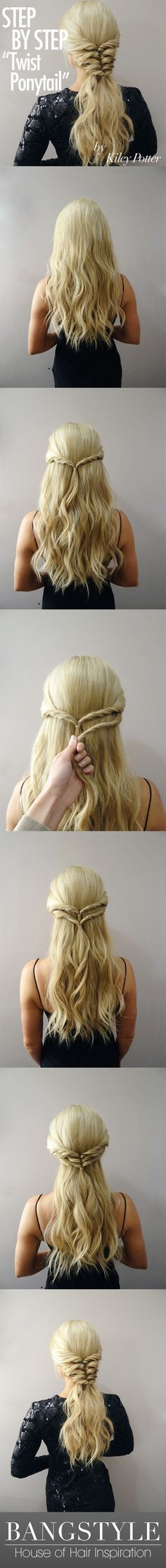 Get the Look! Twist Ponytail Tutorial by Kiley Potter