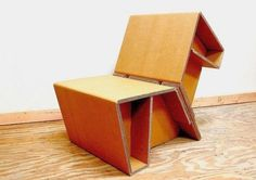 Chairigami: Funky Cardboard Furniture Folded In Unexpected Shapes | Inhabitat - Sustainable Design Innovation, Eco Architecture, Green Building