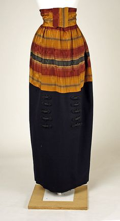 1914 wool and silk suit by House of Premet w/o jacket. Via MMA.