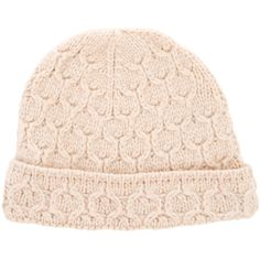Pre-owned Loro Piana Cashmere Rib Knit Beanie ($145) ❤ liked on Polyvore featuring accessories, hats, neutrals, cream hat, ribbed knit beanie, rib knit hat, ribbed knit hat and rib knit beanie