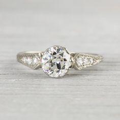 Image of .94 Carat Art Deco Vintage Engagement Ring