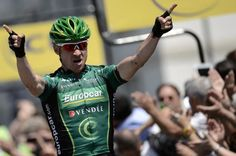 Thomas Voeckler (Europcar) out-smarted his breakaway companions to win stage 6 of the Dauphine
