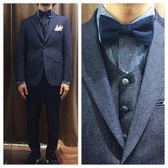 新郎衣装|カジュアルなデニムタキシードスタイル : 結婚式の新郎衣装に関するお話|カジュアルウェディングまとめ