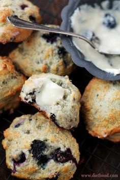 Blueberry Scones with Blueberry Cream Cheese Frosting.