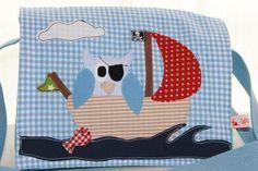 """Kindergartentaschen - Kindergartentasche """"Piraten Eule""""auch als Rucksack - ein Designerstück von Wichtelland bei DaWanda"""