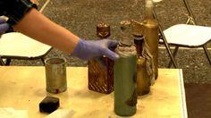 Μποέμικο μπουκάλι με εφέ αντικέ γυαλί- Fiona's Craft Emporium