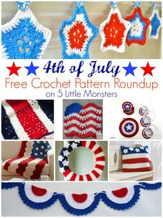 5 Little Monsters: 4th of July Free Crochet Pattern Roundup