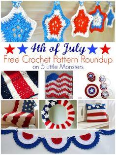 4th of July Free Crochet Pattern Roundup