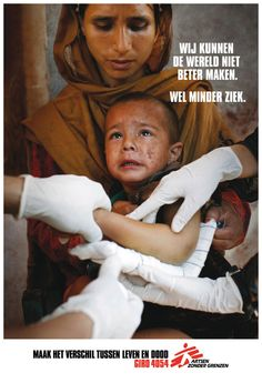 An ad for Doctors without Borders