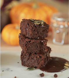 Nutritious vegan and gluten-free pumpkin brownies