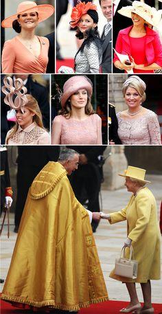 Fashion of the Royal Wedding.. The warm hues!