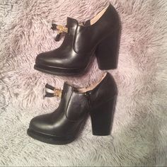 """Platform Tassel Bootie Seychelles Hijinks Bootie.  Leather.  Loafer inspired lip with black and gold tassel detail.  Inside zipper for easy on/off.  3/4 platform, 4"""" stacked heel.  Worn once- EUC! In original box. Seychelles Shoes Ankle Boots & Booties"""