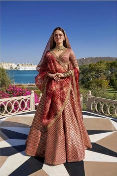 Sabyasachi 2019 Destination Wedding collection consists one two gorgeous lehengas fit for beach wedding and a surprise kid wear lehenga. Indian Bridal Outfits, Indian Bridal Fashion, Indian Bridal Wear, Indian Designer Outfits, Indian Designers, Designer Dresses, Indian Attire, Indian Ethnic Wear, Lehenga Collection