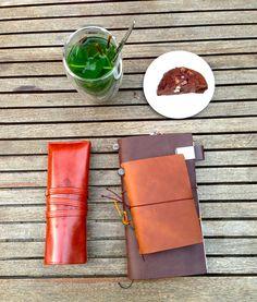 Tea, brownie and a Modiri travelernotebook