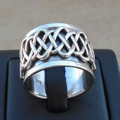 925 Sterling Silver Signs & Symbols Celtic Irish Ring Size 11 Spinner Sol Ha New #Unbranded #Spinner