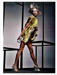 Ghetto-Fabulous Editorials: The Vogue Russia April 2012 Cover Shoot Stars Daphne Groeneveld