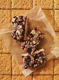 Barres à la noix de coco, aux pacanes et au chocolat Recettes | Ricardo