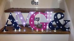 Each letters stands a good Tall complete with 10 LED fairy lights and and battery pack with the on off switch. As batteries can not be posted batteries are not supplied.Numbers symbols and shapes are also available Childrens Bedroom Decor, Letter Symbols, Led Fairy Lights, Light Letters, Wooden Letters, Sentimental Gifts, Kids Decor, Homemade Gifts, Shapes