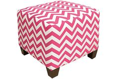 Ottoman Zig Zag Candy Pink on OneKingsLane.com...for a little girls room...cute!