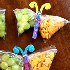 such a cute idea for healthy snacks for kids!