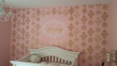 Baby girl nursery accented in gold