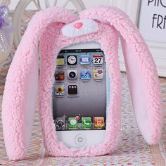 $6.35 Soft and Lovely Plush Rabbit Sytle Protective Case Cover for iPhone 4 / 4S --------- I suggest buying this tbh... <3 so cute and fluffy and kawaii awww