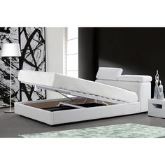 "A bed with a hidden storage compartment underneath. Finally, hiding things under the bed can be considered ""organizing."""