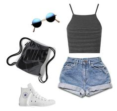 """Sporty girl"" by no-signal on Polyvore featuring Topshop, Converse and NIKE"