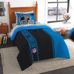 Carolina Panthers NFL Twin Comforter Bed In A Bag Soft U0026 Cozy 64in ...