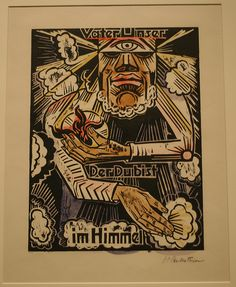 Our Father which Art in Heaven, 1921, woodcut, Max Pechstein