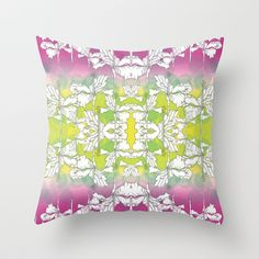 Hibiscus Throw Pillow by Sarah Saeed - $20.00