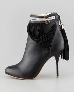Sophia Webster Kendall Leather Fringe Bootie
