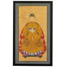 Chinese Ancestor Painting of Grandmother. Chinese Commemorative paintings, usually referred to as ancestor paintings, were used in China as an important part of ancestor worship. It was believed that part of the family's duty was to worship and honour their deceased ancestors, and rituals involving the offering of food before portraits of the deceased were an important part of this. #ChineseAncestorPainting #AncestorPaintingGrandmother #ChineseGrandmother