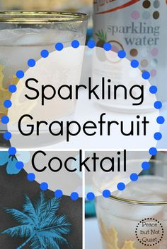 Sparkling grapefruit cocktail -- the perfect drink to cool off on a hot day. Coconut and grapefruit flavors combine to create a delicious, tropical drink! #DrinkVintage #CG #sponsored