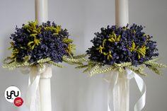 yau flori+yau evenimente_lumanari de cununie scurte cu lavanda proaspata si grau Wedding Flowers, Wedding Photos, Candles, Table Decorations, Tips, Vintage, Design, Trunks, Manualidades