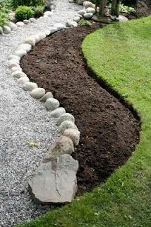 New garden borders ideas landscape edging pea gravel ideas New garden borders ideas landscape edging pea gravel ideas Landscape Edging, Garden Edging, Diy Garden, Garden Borders, Garden Paths, Pea Gravel Garden, Gravel Path, Concrete Garden, Landscaping With Boulders