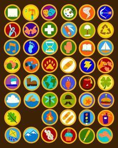 """badges boyscouts (cartoons """"La haut"""") Idées pour activités/anniversaire enfants"""
