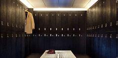 locks installed on Hollman lockers at Equinox. Athletic Locker, Wood Lockers, Locker Storage, Curtains, Gallery, Equinox, Room, Locks, Home Decor