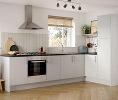 Kitchen Cabinets End Panels, Modern Kitchen Cupboards, Latest Kitchen Trends, Ready To Assemble Cabinets, Design Your Kitchen, Elegant Kitchens, Stylish Kitchen, Door Design, New Homes
