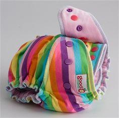 Sugar Taffy Designer Diaper (Knit) - One-Size - Serged - Puff Cotton Velour (baby pink)