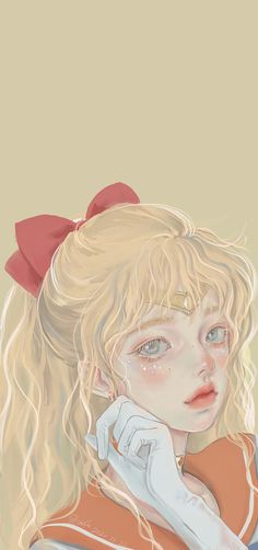Pretty Anime Girl, Anime Art Girl, Cartoon Edits, Korean Art, Sailor Moon, Sailor Venus, Aesthetic Art, Kawaii Anime, Cute Art