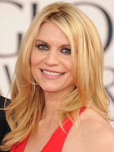 Claire Danes... Claire looks super-sexy with her loose, face-framing waves and an uneven part. This style is perfect for medium to long hair. ❤