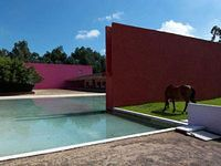 Luis Barragán's Famed Cuadra San Cristóbal Hits  - a spectacular Los Angeles home with a fountain designed by Pritzker Prize-winning architect Luis Barragán. The home, which was renovated in a style reminiscent of Barragán by L.A. architect Tim Campbell, sold after a series of PriceChops for $4.8M last month.