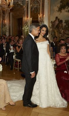 Never-before-seen snaps of Amal and George's big day.